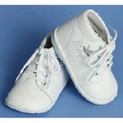 Angels Garment Baby Boy White Embroidered Christening Shoe Size 1-7