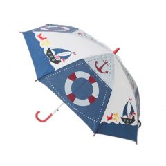 Aquarella Kids Boys Blue White Sailor Raingear Umbrella