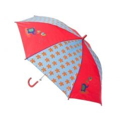 Aquarella Kids Girls Blue Red Zoo Raingear Umbrella