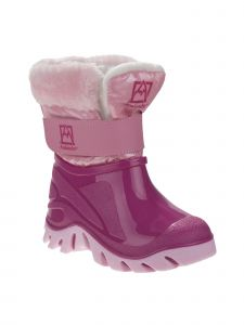 Avalanche Girls Pink Faux Fur Hook And Loop Snow Boots 7 Toddler-12 Kids