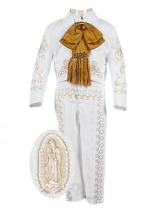 Baby Boys White Embroidered Jacket Pants 5 Pc Baptism Suit 6-12 Months