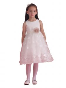 Amberry Girls Multi Color Lace Skirt Flower Sash Special Occasion 2T-14