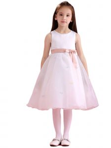 Amberry Girls Pink Sash Butterflies Junior Bridesmaid Dress 8-14