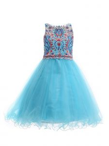 Amberry Girls Colored Embroidery Bodice Junior Bridesmaid Dress 2T-14