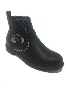 Ameta Women Black Buckle Honey Ankle Bootie 6-11