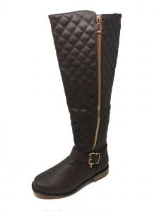 Ameta Women Brown Quilted Honey Boots 55-10