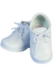 Angels Garment Boys White Lace-up Faux Leather Upper Dress Shoes 2-4 Baby