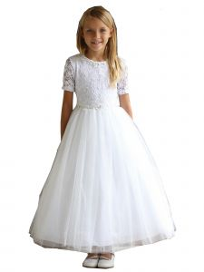 Angels Garment Girls Multi Color Lace Flower Girl Communion Dress 3-24