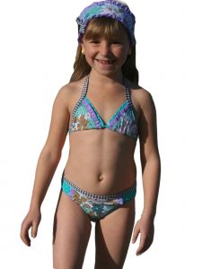 Azul Big Girls Purple Anything Goes Triangle Bikini 2 Pc Swimsuit 8-14