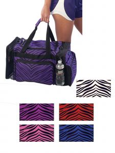 Pizzazz Girls Zebra Print Multi-Sport Travel Bag