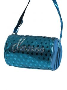 Danshuz Turquoise Dance Dot Duffle Bag Purse