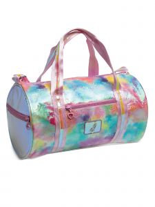DanzNmotion Girls Multi Pastel Clouds And Hearts Duffel