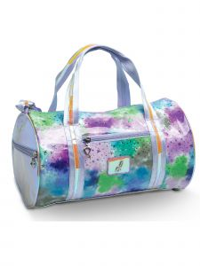 DanzNmotion Girls Multi Pastel Clouds And Stars Duffel
