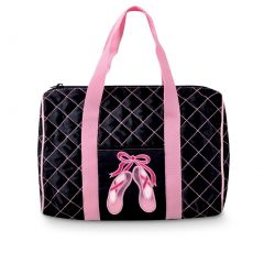 Danshuz Girls Quilted on Pointe Black Tote Bag Dance Accessory