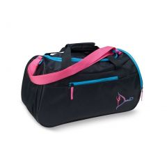 Danshuz Girls Black Neon Dancer's Gear Microfiber Pockets Duffle Bag