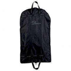"Danshuz Girls Black ""Dance"" Screen Print Front Full Length Zipper Garment Bag"