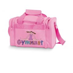 Danshuz Girls Pink Geena Gymnast Colorful Screen-prints Zippered Duffel Bag