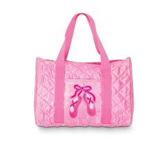 Danshuz Girls Quilted on Pointe Pink Tote Bag Dance Accessory