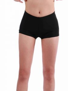 Annie Little Girls Black Bally Low Rise Dance Shorts 4-6