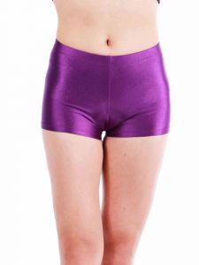 Annie Big Girls Red Violet Bally Low Rise Dance Shorts 8-12