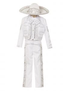 Rain Kids Boys Multi Color Horse Embroidery Elegant 6 Pc Charro Suit NB-14