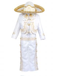 Rain Kids Boys White Virgin Mary Charro 6 Pc Formal Suit Set 2-14