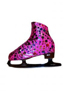 Ice Fire Skating Party Pink Boot Cover
