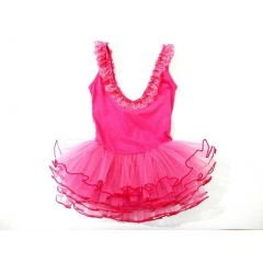 Hot Pink Lace Trim Tutu Ballet Dress Girls S-L