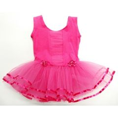 Hot Pink Ruffle - Front Tutu Ballet Dress Girls S-XL