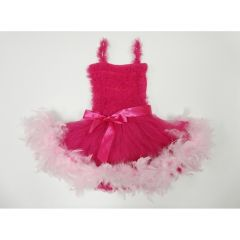 Hot Pink Ruffle Feather Tutu Ballet Dress Girls S-L