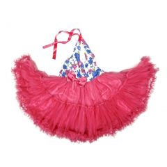 Wenchoice Hot Pink Halter Tutu Party Dress Girl S-XL