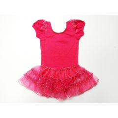 Hot Pink Short Sleeve Tutu Ballet Dress Girl S-L