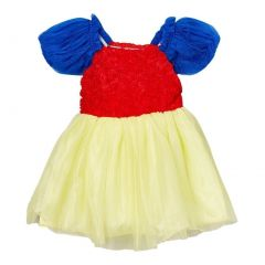 Girls Blue Red Yellow Rosette Princess Halloween Dress 12M-7