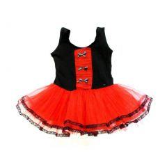 Black Red 3 Bow Tutu Ballet Dress Girl XL