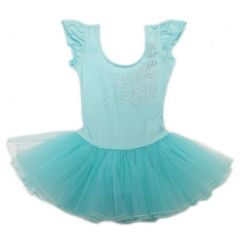 Wenchoice Girls Mint Rhinestone Bow Accent Tutu Ballet Dress S (9-24M)-XL (6-8)
