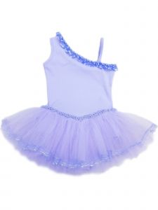 Wenchoice Girls Lavender Ruffle Trim Asymmetrical Ballet Dress 9M-8