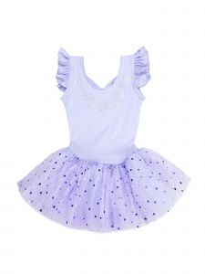 Wenchoice Girls Lavender Rhinestone Skirted Ballet Dress 24M-6