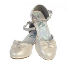 Swea Pea & Lilli Girls Ivory PU Rhinestone Bella Shoes 9 Toddler-5 Kids