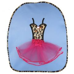Wenchoice Girls Blue Pink Leopard Ballet Tutu Dress Detail Stylish Backpack