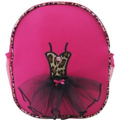 Wenchoice Girls Hot Pink Leopard Ballet Tutu Dress Detail Stylish Backpack