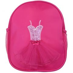 Wenchoice Girls Hot Pink Glitter Ballet Tutu Dress Detail Stylish Backpack
