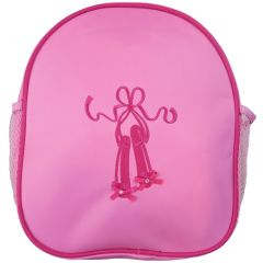 Wenchoice Girls Pink Ballet Shoe Mesh Side Pockets Stylish Backpack