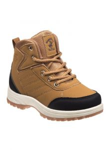 Beverly Hills Boys Tan Lace Up Closure Boots 11-4 Kids