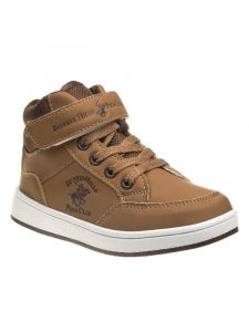 Beverly Hills Boys Tan Lace-Up Hook And Loop Boots 6 Toddler-3 Kids