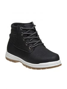 Beverly Hills Boys Black Lace Up Closure Sporty Winter Boots 11-3 Kids