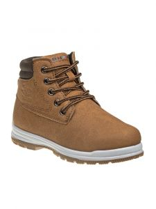 Beverly Hills Boys Tan Lace Up Closure Sporty Winter Boots 11-3 Kids