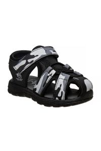 Beverly Hills Little Boys Grey Camo Closed Toe Sandals 5-10 Toddler