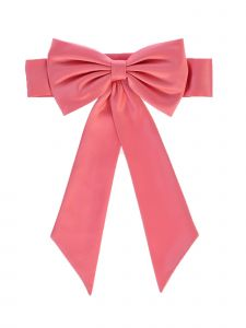 Lito Girls Coral Satin Ribbon Embellished Special Occasion Sash NB-12Y