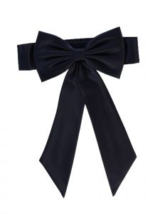 Lito Girls Navy Satin Ribbon Embellished Special Occasion Sash NB-12Y