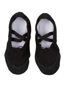 Wenchoice Little Girls Black Elastic Strap Stylish Ballet Shoes 6-10.5 Toddler